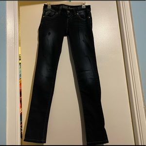 LikeNew Guess Low Rise Skinny Distressed Jeans